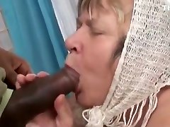 Big Black Cock Creampies Grandma with Huge Tits