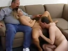 Cuckolds friend fucking his wife