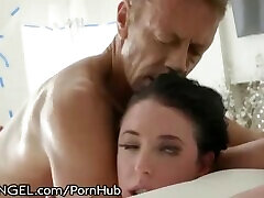EVIL ANGEL Angela dudu gadis asli FINALLY Gets Rocco Siffredi in her ASS Gape