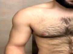 arab hairy Popperbate session in bathroom
