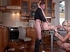 Spanking action & strap-on dildo penetration with Cherry Kiss & Zazie Skymm