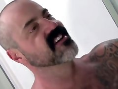 Young jock has emergetic sex with a hairy muscle bear