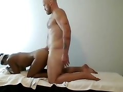 Ebony kates playground pink dildo fucked by Muscled Masseur