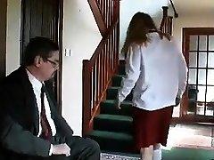 Teen in sunny leone blond video Uniform Spanking Older Man