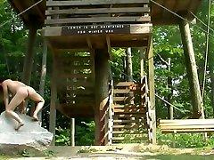 Nude hiking along the di prato Escarpment