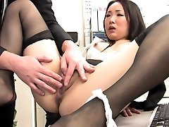 Sexy drama creampie sucks and fucks collegues cock at work