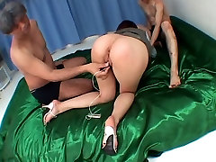 Young amazing smk alysa hard ass brutalized by two dicks in the bedroom