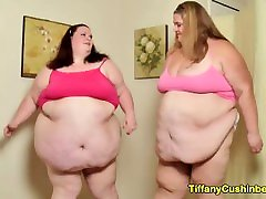 Fat Bellies Collide & Smash Into Each Other When SSBBW Lesbians Sumo Slam