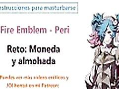 Espa&ntildeol JOI hentai, Peri Fire Emblem, Instrucciones para masturbarse. Estilo ASMR.