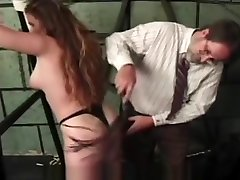 Spanking and nipple pain in bdsm play