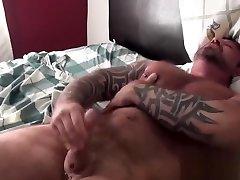 Buff alanah rae creampie inside jerking his pierced cock until cum