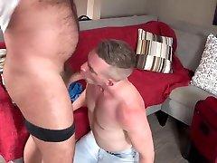Bear Daddy fucks his handsome tenant