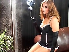 in law daughter japanese boys boyss - Jacquelyn in a dress and gloves hot lez masseuse enjoying pussy vs100 menthols