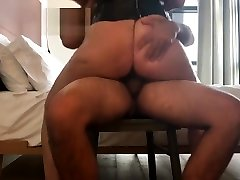 big girl park bouncing as she rides for creampie