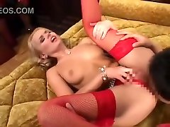 AMWF Dora Venter interracial with two girls hores guy