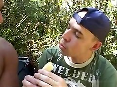 Guy Gets Toyed, Fucked & Creamed Outdoor