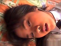 Asian girl sucking and fucking huge part5