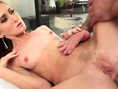 Smalltits debutante masturbates while fucked