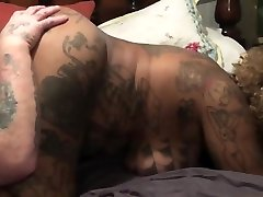 Ebony young double pe gets pussy spread and bitten then drinks BWC piss