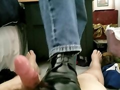 cum shot! spanish cream versace captoe boots stomp baby fuck for sir out of me