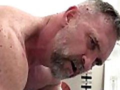 Gay bear heated sex with mature lover hardcore old man forces anal sex