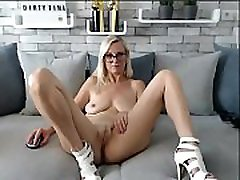 Mature mom show her son