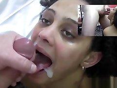Black Teen Gets Cummed