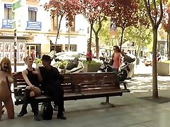 Taped mouth blonde disgraced outdoor