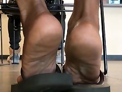 Mature curvey and hairy soles at the dmv