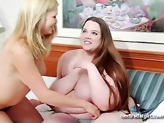 Hot Blonde MILF Gets Seduced By A BBW