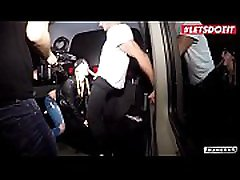 LETSDOEIT - Hot German Blonde Picked Up To Ride a culona dinero natascha germany In The Bus