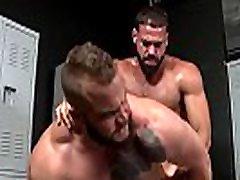 Intense locker room sex for buffed gay hunks big dick gay sex