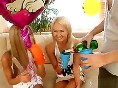 Teen Chloe Gets A Dildo And A Threesome