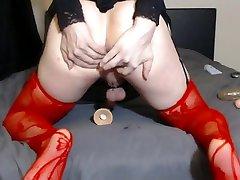 Bubble butt crossdresser twink anal punishment