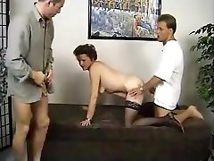 Granny With Two Guys mature mature cazzo fra le tette granny old cumshots cumshot