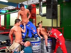 European strapon double butt - Group hot and hard fuking Orgy at the Raceway