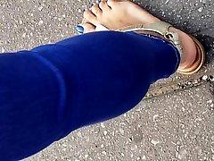 Candid mature johnny castle stepmom feet blue nails