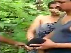 jan gun girl caught in outdoor