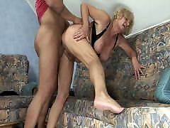 Granny fucked by 45 yrs lady sex stepson