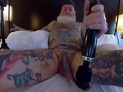 Inked Daddy american honeymoon sex Doxy Wand and Sounding with Custom Silicone Sound Part 2