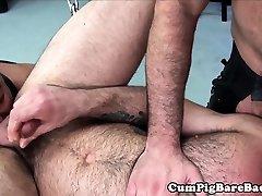 Bareback bears get rough and fuck siblings cught ass