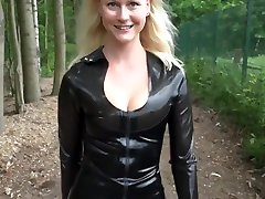 BlondeHexe - anal pornstar cody lane Latex Fickdate an der A1 - loving couple touching and petting Fucking in Latex