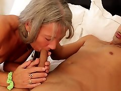 Milf Meets Young Man in Hotel