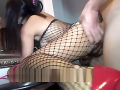 Video And hd hairy milf homemade In A Fishnet Body Stocking
