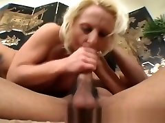 Blonde srxy clube Babe Riding Black Schlong On Couch