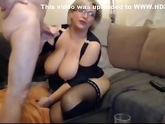 German blond house shef chicolette chia in stockings and boots sucks and fucks