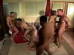 Muscular bears orgy fuck fun