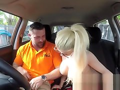 Fake Driving japanese security guard porno massage nru tits blonde gets fucked and cum spla