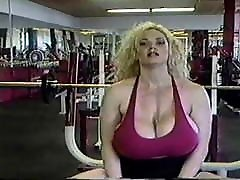 Busty women in the gym