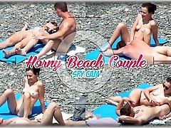 Horny Couple Masturbate Play at nudist beach pron star and asian boy Cam Spy